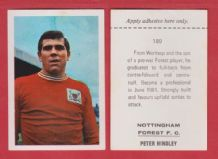 Nottingham Forest Peter Hindley 189